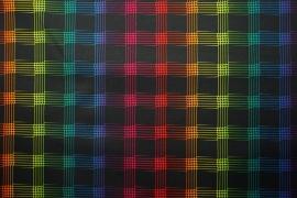 Tkanina ogrodowa wodoodporna - kolorowa kratka