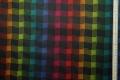 Tkanina ogrodowa - kolorowa kratka - metr