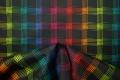 Tkanina ogrodowa - kolorowa kratka