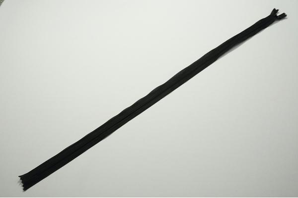 Zamek kryty - czarny, 60 cm