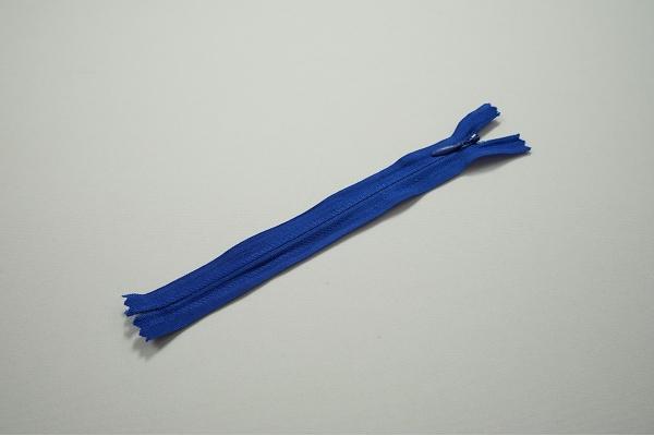 Zamek kryty - niebieski, 18 cm