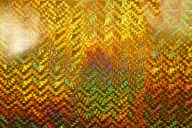 Folia hologramowa w kolorze złotym