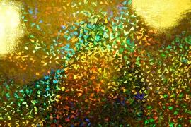 Folia hologramowa w złotym odcieniu