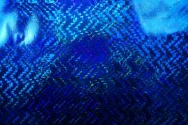 Folia hologramowa w kolorze chabrowym