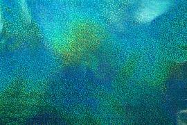 Folia hologramowa w kolorze turkusowym