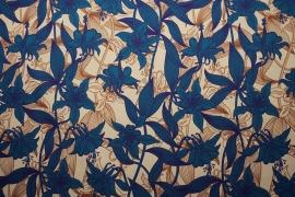 Tkanina ogrodowa wodoodporna - dwukolorowe kwiaty
