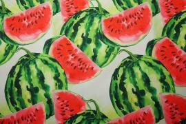 Tkanina ogrodowa wodoodporna - arbuzy na białym tle