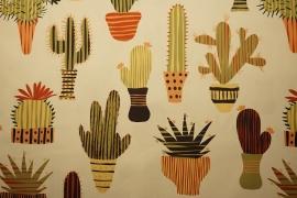 Tkanina ogrodowa wodoodporna - kolorowe kaktusy