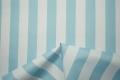 Tkanina ogrodowa w błękitne paski