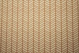 Tkanina ogrodowa wodoodporna w brązową jodełkę