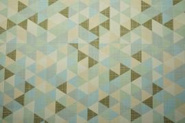 Tkanina ogrodowa wodoodporna - kolorowe trójkąty