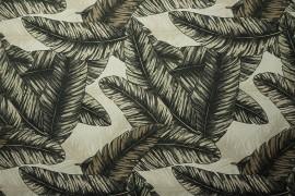 Tkanina ogrodowa wodoodporna - beżowe liście