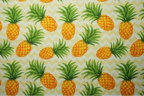 Tkanina ogrodowa - ananasy