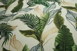 Filc drukowany - zielone liście
