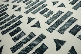 Filc drukowany w czarny wzór