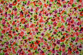 Bawełna - kwiaty malowane farbą