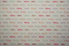Bawełna - rybki pastelowe