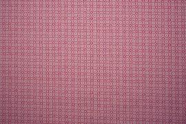 Bawełna - kwiatki na różowym tle