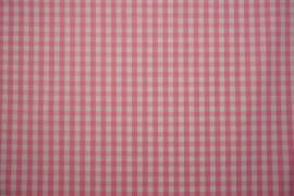 Bawełna - jasnoróżowa kratka