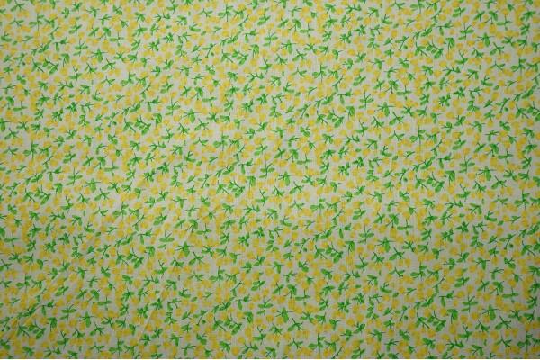 Bawełna - żółte kwiatki