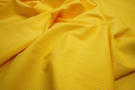 Bawełna - żółte tło, białe kropki 2 mm