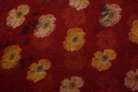 Tkanina szyfonowa - miodowe kwiaty