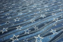 Filc drukowany - gwiazdki jeansowe