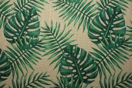 Tkanina dekoracyjna - duże liście