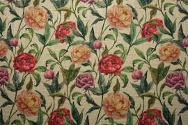 Tkanina dekoracyjna - piwonie